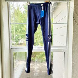 Adidas Trefoil 3 Stripe Dark Blue Legging | XS
